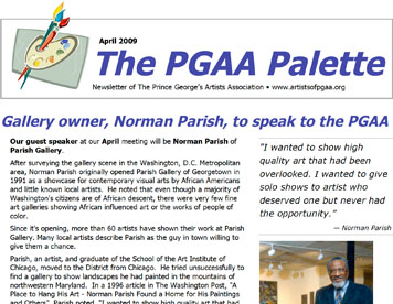 Prince George's Artists Association Newsletter
